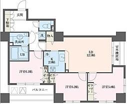 ドゥーエ横浜駅前[3階]の間取り