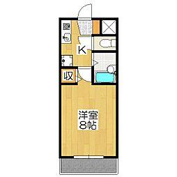 ラポルテ賀茂[203号室]の間取り