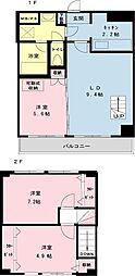千葉県浦安市猫実2の賃貸マンションの間取り