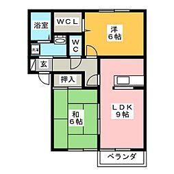 グリーンフローラA棟[2階]の間取り