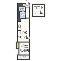 COMODO南堀江[4階]の間取り