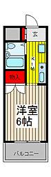 ジョイフル浦和[4階]の間取り