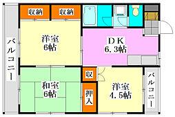 KTマンション[201号室]の間取り