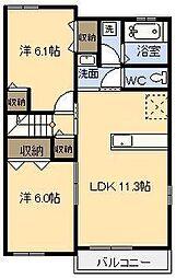 プランドールM Ⅴ[2階]の間取り