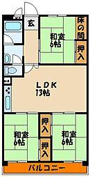 新吉田第三住宅[5階]の間取り