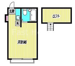 東京都杉並区阿佐谷北5の賃貸アパートの間取り