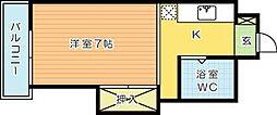 司城ビル[605号室]の間取り