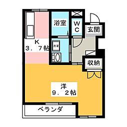愛知県小牧市小木5丁目の賃貸アパートの間取り