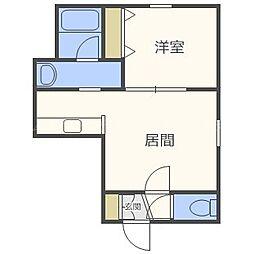 北海道札幌市西区山の手一条1丁目の賃貸アパートの間取り