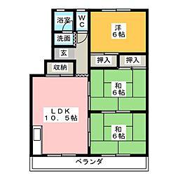 カトウハイツ[3階]の間取り