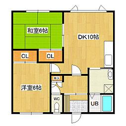 めぐみマンション2[201号室]の間取り