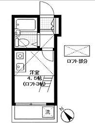 コスモコーポ磯子[208号室]の間取り