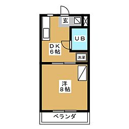 コートフレーベル[1階]の間取り