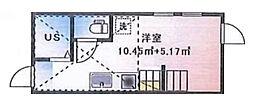 (仮称)ルームズ西早稲田B棟[201号室]の間取り
