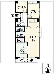 牧の原ビル[7階]の間取り