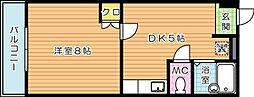 折尾キャンパスハイツ[4階]の間取り