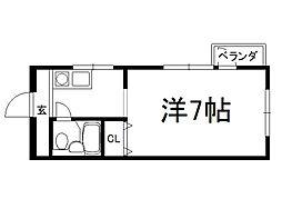 シェモワキタガワ[208号室]の間取り