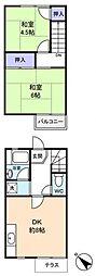 [テラスハウス] 千葉県千葉市花見川区横戸町 の賃貸【/】の間取り