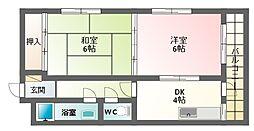 田辺マンション[2階]の間取り