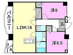 KBコート本町2[1502 号室号室]の間取り