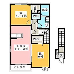 AKハイム[2階]の間取り