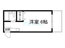 プルシャン西京極[1階]の間取り