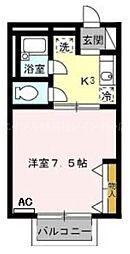 香川県高松市西春日町の賃貸アパートの間取り