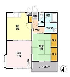 ハイツハツミA[1階]の間取り