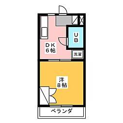 メゾン・メルベーユ[4階]の間取り