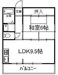 ドミール松田[30C号室号室]の間取り