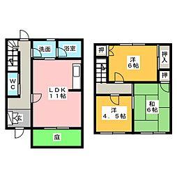 [テラスハウス] 愛知県名古屋市名東区よもぎ台2丁目 の賃貸【愛知県 / 名古屋市名東区】の間取り