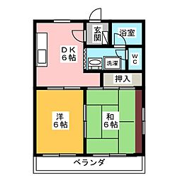 マンションリビエールIII[4階]の間取り