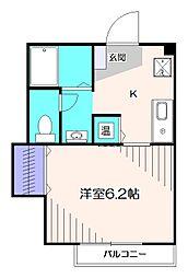 東京都西東京市南町4丁目の賃貸アパートの間取り