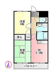 コーポ桂川 1階2DKの間取り