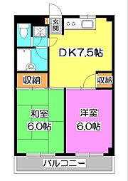 メゾンクレール[1階]の間取り