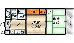 サンワエクシードハイム 2階2Kの間取り