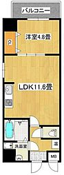 MANDARINN COURT深井駅前 5階1LDKの間取り