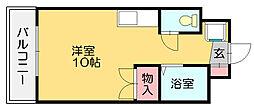 セレス篠栗[4階]の間取り