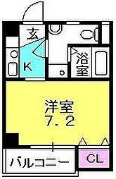 レザムルーズ西宮(旧TISSハイム西宮)[1002号室]の間取り
