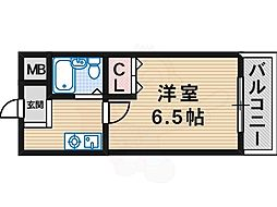 Osaka Metro御堂筋線 新金岡駅 徒歩7分の賃貸マンション 4階1Kの間取り