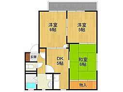 兵庫県宝塚市安倉中2丁目の賃貸アパートの間取り
