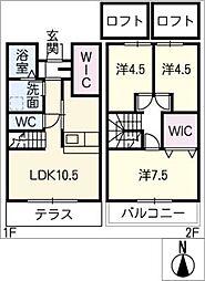 [タウンハウス] 三重県津市高茶屋7丁目 の賃貸【三重県 / 津市】の間取り