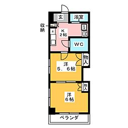 レジデンスカープ名古屋[5階]の間取り