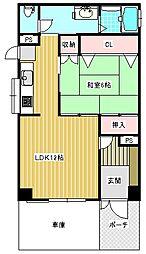 OBA住吉川[1階]の間取り