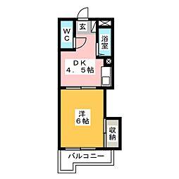 レジデンス石坂[3階]の間取り