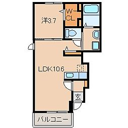 和歌山県紀の川市桃山町調月の賃貸アパートの間取り