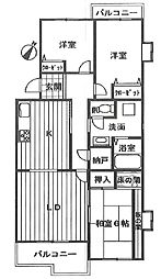 ライブ・アート春の道壱号棟[301号室]の間取り