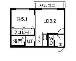 コローレN33[3階]の間取り