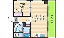 アルカディアイン 8階1LDKの間取り