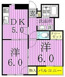 サニーヒル(八ヶ崎)[1階]の間取り